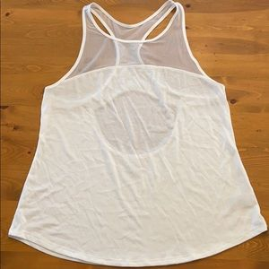 L OLD NAVY ACTIVE Go-Dry White Mesh Tank Top